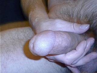 I love making my cock hard and jerking off. Now I just need a cum target. Any volunteers?
