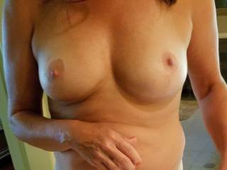 Wife\'s tits. Per the request of a new Zoig friend.
