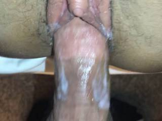 Taking some thick cock