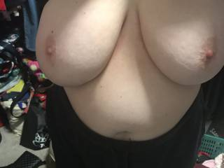 I just had to suck on them before she put her bra on