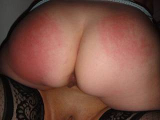 great spanking implied her she should be spanked then take a cock in her mouth and the her pussy on her knees as you spread her butt or be spanking that butt
