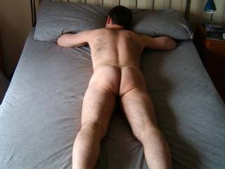 Just me naked on my bed. Need someone to share this double bed with.