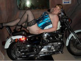 Enjoying the Harley in Michael26 and my hotel room...anyone want a ride??