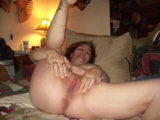 SWEET!! Spreading it for my hard cock!!!! Would LOVE to be able to ride that for a long time honey!!! Could enjoy taking pics and vids of your sweet body!!!  LOVE to eat that pussy!!