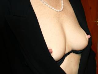 great tits...they are the kind that will sag, so don't waste time and fuck eveybody while you got it..don't forget to fuck a senior citizen..they appreciate a good slut better than anyone else...
