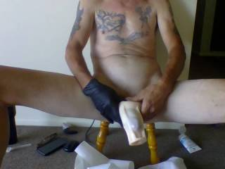 I Really enjoy getting naked and stroking my Cock. Especially in a house i am working at.