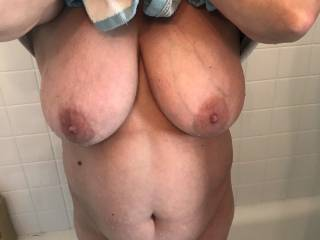 have ever thought about titty fucking my wife....and leaving your cum all over that fucking belly.....don\'t be shy...tell us what you think....