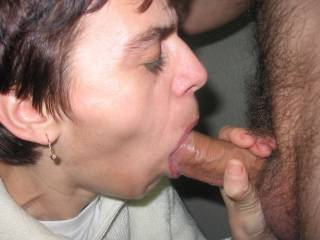I'd love to have your wife swallow my cock