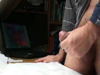 Fantastic masturbator you are my friend..great thick uncut cock and thick jizz...I know how that feels...great to hear you feel your masturbation.