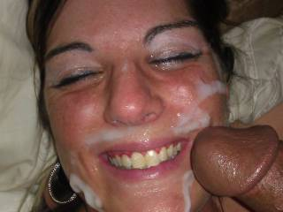 just put one of my best loads all over my girls face as she was sucking a bbc.