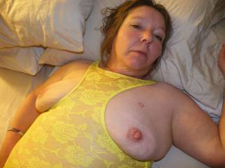I would love to play with those big nipples while she was sucking on my cock