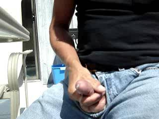 Nice cumshot.....mmmmm wish my mouth was on the end of it. I love masterbating outdoors.