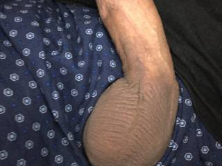 My cock getting harder watching porn