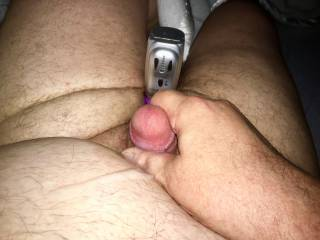 Covering myself with five days worth of cum after not playing for several days;)
