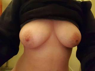 I get horny seeing your loads on my tits