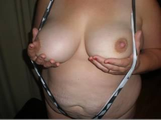 My BBW wearing a slingshot bikini.