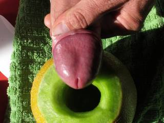 About to push my big dick into a gaping melon hole ...