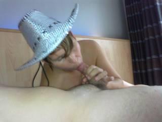 My cowgirl sucking my hard cock