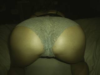 showing how her new panties show off her amazing ass, and taunting me a little with it!