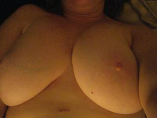 Lusious soft tits, want to put my face in between em' love to suck those soft nipples.