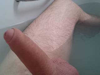 Bathing now my Fat Cock is clean. Women / Couples what would you like to do with my clean cock now for me ?