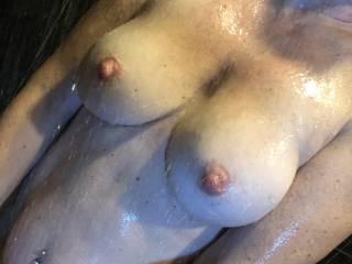 Nice shower after some fantastic sex.