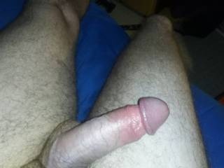 Horny, thinking about how soft and warm and wet pussy feels on my  cock