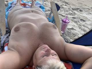 Just hanging out at the beach.