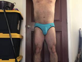 I always make videos and pictures when I get new undies. This is me modeling one pair