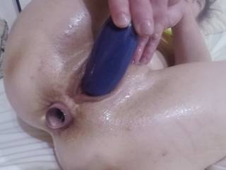 Doesn\'t matter in which hole I put this crystal bottle stopper, having a hard cock plunging into the other hole feels great for both of us! You\'re welcome to cum and find out for yourself.