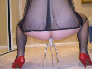 love the red shoes...... and I wont come in your mouth.......