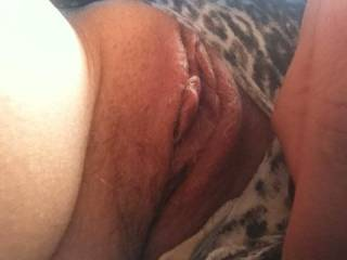 sitting with my wife hand up her skirt playing and fingering then fucking my wife and I was so hard and shot an enormous load of cum deep inside her so much my cum was oozing out of her pussy all day
