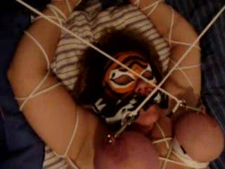 I would really love the fuck her while she was tied up like that and slap those big tits of hers, Awesome vid !