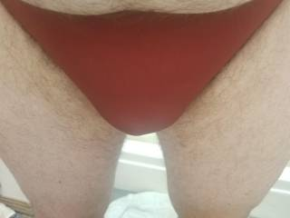 Me wearing my red bikini panties