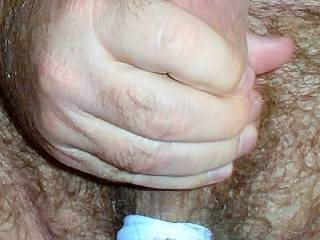 Me jerking off with tied up balls.