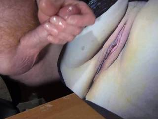 Jerking Off my lubed pulsing cock until I cum all over campingcunt\'s tasty wet pussy! Watching her video tribute of her rubbing her cunt to my cum tribute video I made for her made me shoot my sticky load all over her pussy!
