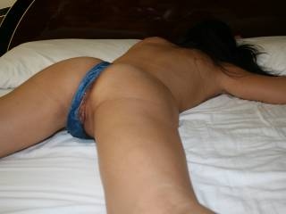 There\'s no better sight than walk in the room to find your wife laid satisfy on your very own bed with another man\'s cum leaking out of her freshly fucked pussy and ass.