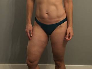 Here she is in some new bikini bottoms. She can\'t wait for the summer to show off her sexy ass at the beach. Do you like this one?