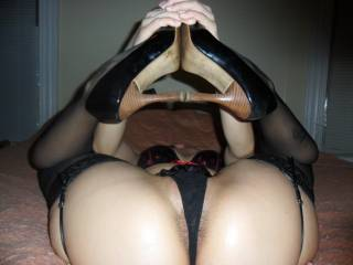 Damn!!  I wish I had you right in front of me in this position!!!  I'd devour that pussy before sinking my cock deep inside!!!!