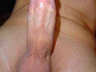 my hard cock with my smooth shaved balls