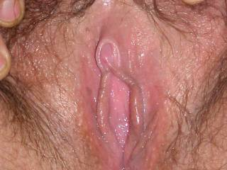 Whoa Buddy, Now that's a luscious close-up pussy shot.  I'd love to lick you