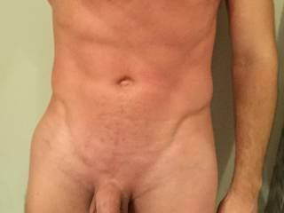 Selfie of my body and uncut dick, hope you approve!