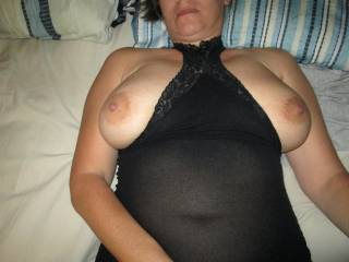 Letting my tits hang out