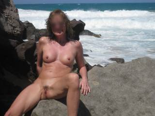 Beautiful! Come rest on a rock by the sea near me any time you like. You are so sexy!