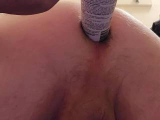 """Unable to get cock so I decided to use a long stiff """"caulk"""" to fill my ass"""