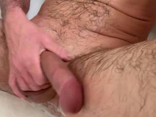 feels so fucking good jerking my cock....mmm....always up for some group fun...