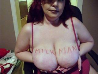 My sexy friend Auburn offering her nice big tits to me, thanks babe