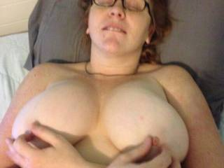 Love to roll your nipples between my fingers as I eat your pussy mmm