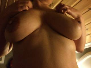 My wifes lovely tits