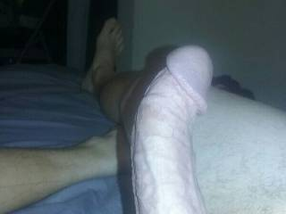 Cock is hard and waiting.